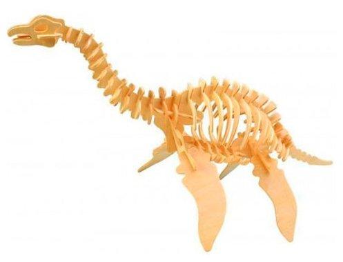 Сборная модель Мир деревянных игрушек Плезиозавр (Ж010),,