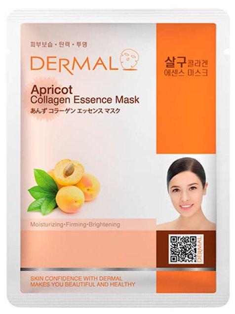 DERMAL тканевая маска Apricot Collagen Essence Mask с коллагеном и экстрактом абрикоса