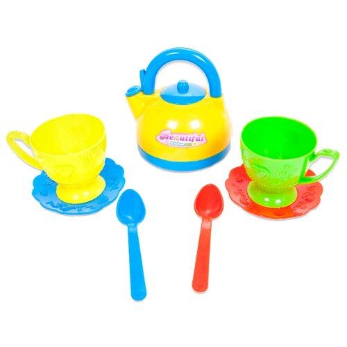 Купить Набор посуды ABtoys Помогаю маме PT-00431 (PT-00203)/WK-B0342 разноцветный, Игрушечная еда и посуда