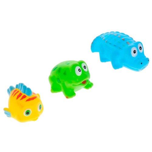Купить Набор для ванной ABtoys Веселое купание. Набор игрушек-брызгалок (PT-00331) желтый/зеленый/голубой, Игрушки для ванной