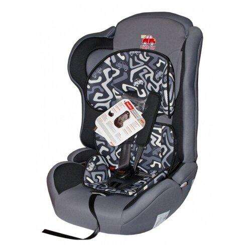 Автокресло группа 1/2/3 (9-36 кг) Little Car Comfort, лабиринт серый автокресло группа 1 2 3 9 36 кг little car ally с перфорацией черный