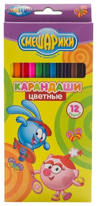CENTRUM Цветные карандаши Смешарики 12 цветов (84176)