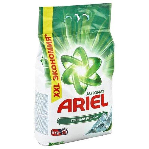 Стиральный порошок Ariel Горный родник (автомат) 6 кг пластиковый пакетСтиральный порошок<br>