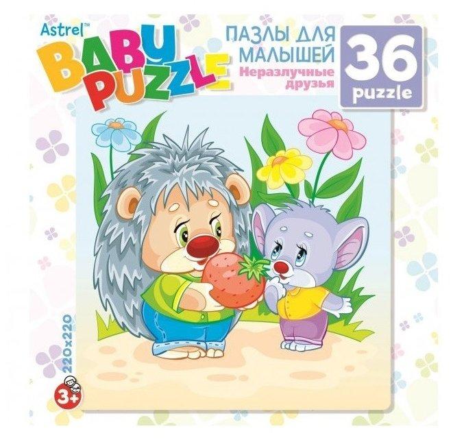 Пазл Origami Astrel Ежик и Мышонок (6263), 36 дет.