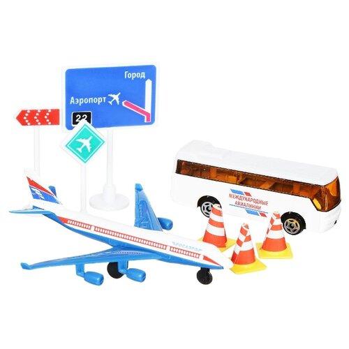 Набор техники ТЕХНОПАРК Аэропорт (30814) белый/синий/оранжевый