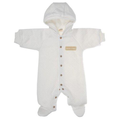 Купить Комбинезон lucky child размер 24 (74-80), молочный, Комбинезоны