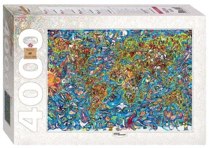 Пазл Step puzzle Art Collection Карта мира (85407), 4000 дет.