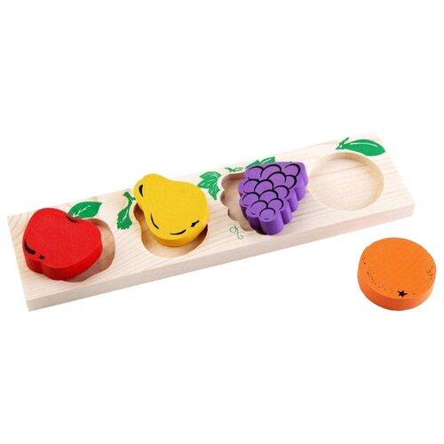 Рамка-вкладыш Томик Фрукты-ягоды (372-3), 4 дет. томик рамка вкладыш геометрия большая томик