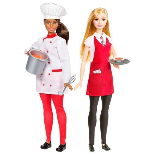 Купить Набор Barbie Барби и друзья Кухня Повар и официант, FCP66, Куклы и пупсы