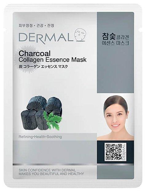DERMAL Charcoal Collagen Essence Mask Тканевая маска с коллагеном и древесным углём
