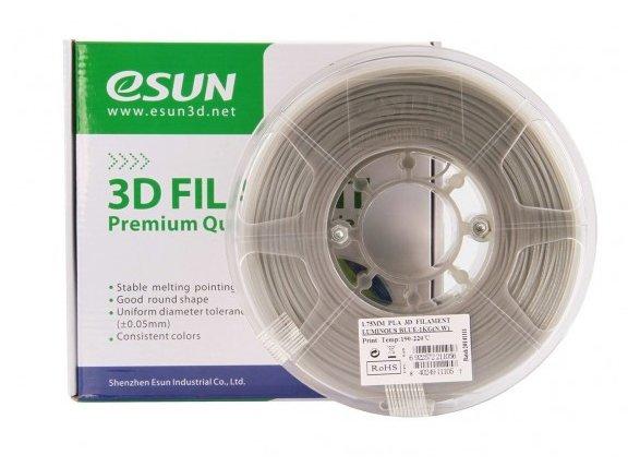 PLA пруток ESUN 1.75 мм светящийся синий
