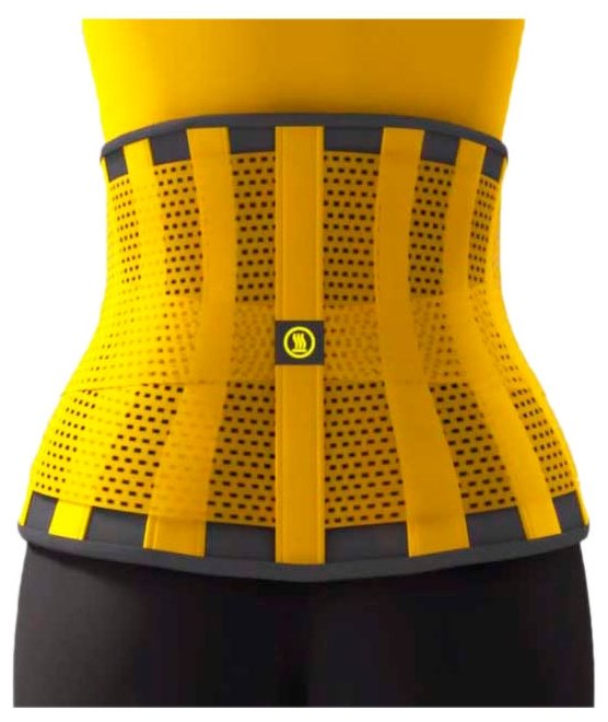 Пояс Для Похудения Hot Shapers Belt Power (S) Черный / Желтый