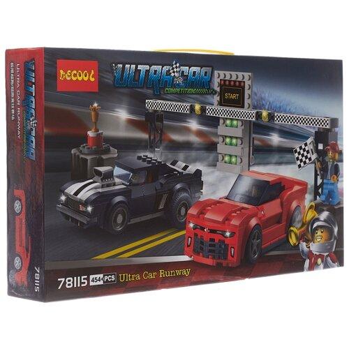 Купить Конструктор Jisi bricks (Decool) Ultra Car 78115 Гоночная трасса Шевроле Камаро, Конструкторы