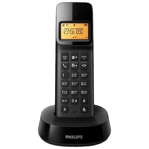 Радиотелефон Philips D1401 черный