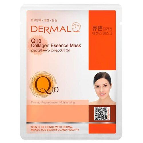 DERMAL Q10 Collagen Essence Masк Тканевая маска с коллагеном и коэнзимом Q10, 23 г dermal тканевая маска bamboo collagen essence mask с коллагеном и экстрактом бамбука 23 г