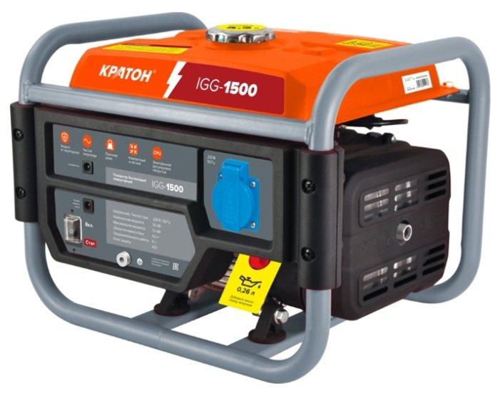 Бензиновый генератор Кратон IGG 1500 (1000 Вт)
