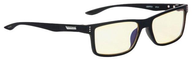 Очки для компьютера GUNNAR Vertex Onyx Amber, цвет оправы: черный, цвет линз: желтый