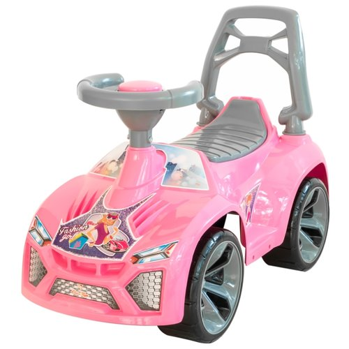 Купить Каталка-толокар Orion Toys Ламбо (021) со звуковыми эффектами розовый, Каталки и качалки