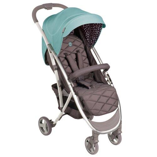 Фото - Прогулочная коляска Happy Baby Eleganza V2 aqua, цвет шасси: серебристый happy baby ходунки happy baby smiley v2 brown