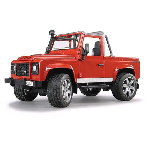 Внедорожник Bruder Land Rover Defender (02-591) 1:16 28 см красный