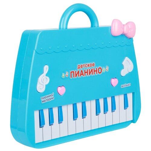 Купить TONG DE пианино Е-нотка T466-D4294/T466-D4295 голубой, Детские музыкальные инструменты