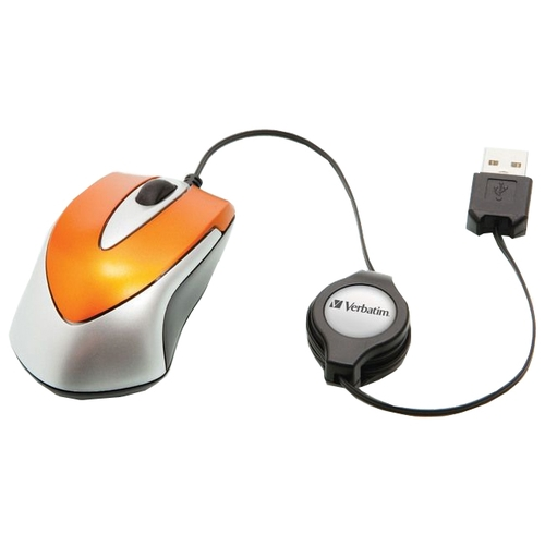 Мышь Verbatim Optical Travel Mouse Go Mini Orange USB