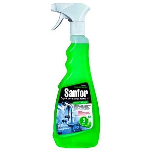 Sanfor спрей для ванной комнаты Чистота и блеск Зеленый цитрус 0.5 л цитрус спрей 31 век el sp240