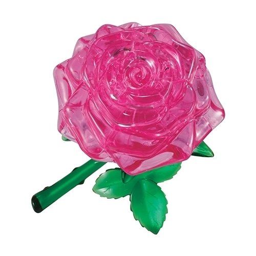 3D-пазл Crystal Puzzle Розовая роза (90213) 44 дет..