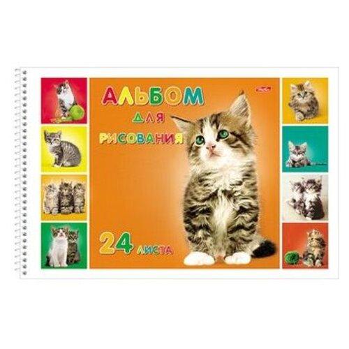 Альбом для рисования Hatber Милые котята 29.7 х 21 см (A4), 100 г/м², 24 л.