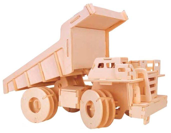 Сборная модель Мир деревянных игрушек Грузовик БЕЛАЗ (П062)