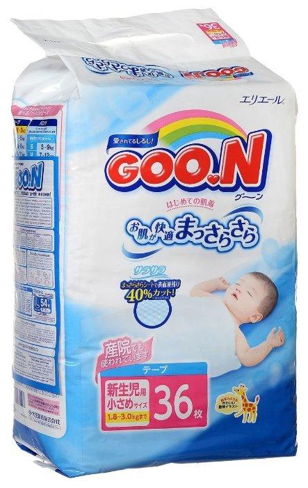 Goo.N подгузники (1,8-3 кг) 36 шт.