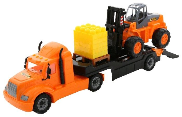Набор техники Wader Майк и автокар с конструктором (55705) 94 см