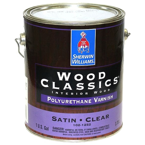 Лак Sherwin-Williams Wood Classics Polyurethane Varnish Полуматовый (3.8 л) Лаки