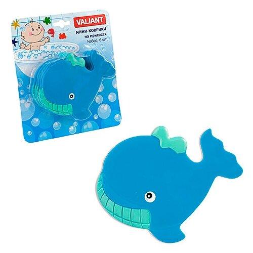 Коврик для ванной Valiant Кит голубой valiant мини коврик для ванной комнаты слоник на присосках 4 шт