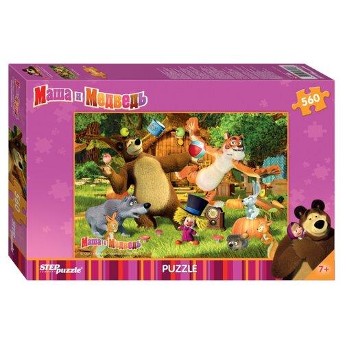Купить Пазл Step puzzle Анимаккорд Маша и Медведь (97018), элементов: 560 шт., Пазлы