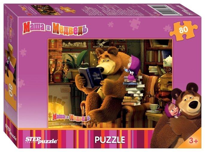 Пазл Step puzzle Анимаккорд Маша и Медведь (77112) в ассортименте, 80 дет.