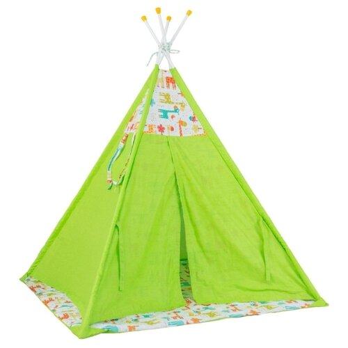Купить Палатка Polini Жираф зеленый, Игровые домики и палатки