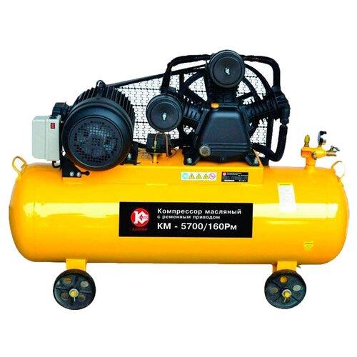 Компрессор масляный КАЛИБР КМ-5700/160РМ, 160 л, 5.65 кВт