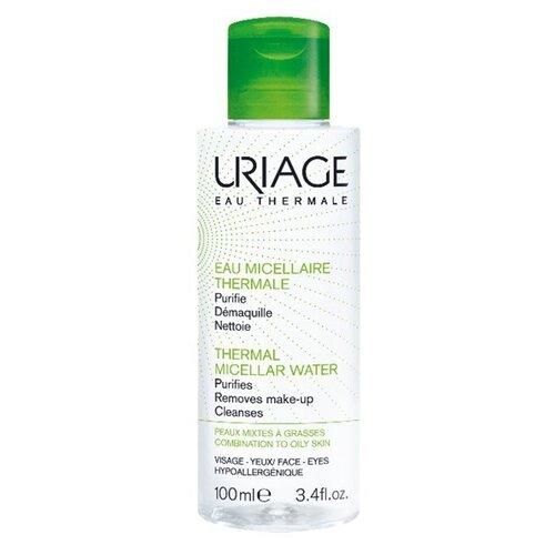 Uriage мицеллярная вода очищающая для жирной и комбинированной кожи, 100 мл uriage мицеллярная вода очищающая для чувствительной склонной к покраснению кожи 100 мл