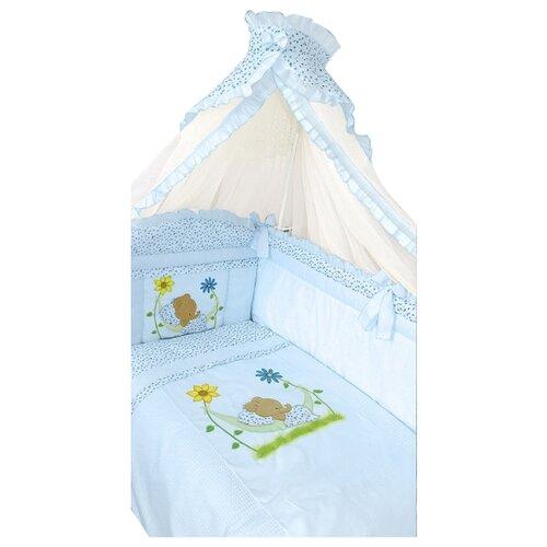 Купить Золотой Гусь комплект Сладкий сон (7 предметов) голубой, Постельное белье и комплекты