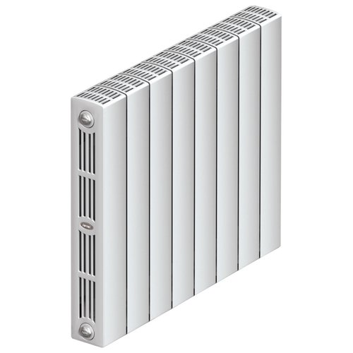 Радиатор секционный биметаллический Rifar SUPReMO Ventil 500 x12 теплоотдача 1564.8 Вт, 12 секций, подключение нижнее (справа) RAL 9016