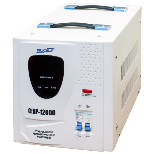 цена на Стабилизатор напряжения однофазный RUCELF СтАР-12000 (10 кВт) белый