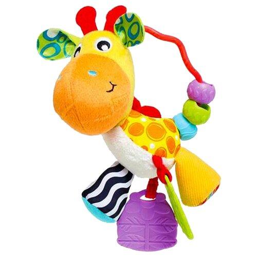 Купить Прорезыватель-погремушка Playgro Giraffe Activity Rattle желтый, Погремушки и прорезыватели