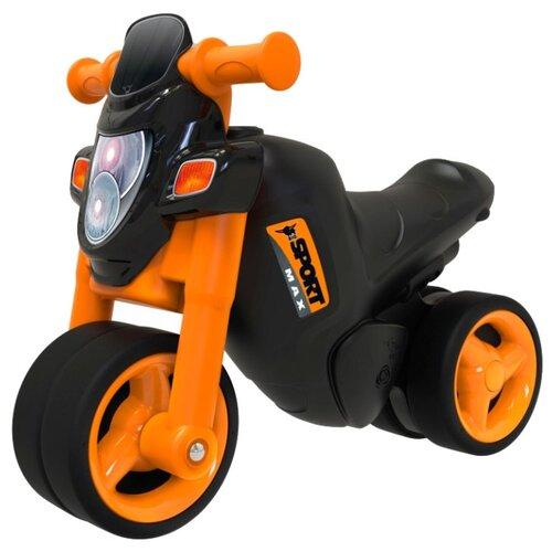 Купить Каталка-толокар BIG Sport-Bike (56361) со звуковыми эффектами черный/оранжевый, Каталки и качалки