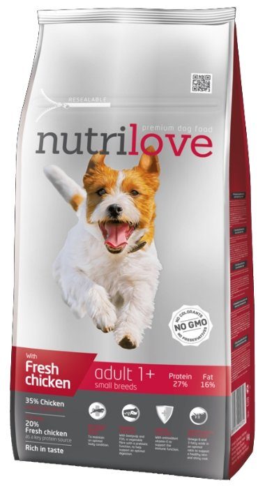 Корм для собак nutrilove Dogs - Dry food - Adult Small