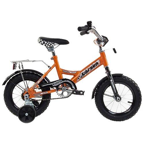 цена на Детский велосипед Larsen Kids 12 (2016) оранжевый (требует финальной сборки)