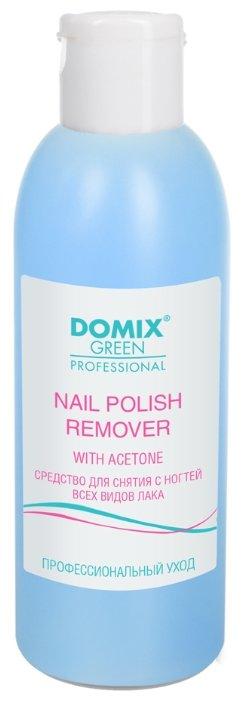 Купить Domix Green Professional Nail Polish Remover With Aceton Средство для снятия всех видов лака с ацетоном 200 мл по низкой цене с доставкой из Яндекс.Маркета