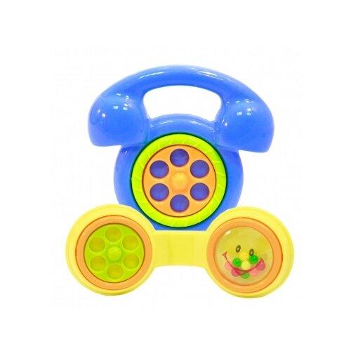 Купить Набор Shantou City Daxiang Plastic Toys Телефончик желтый/голубой, Погремушки и прорезыватели