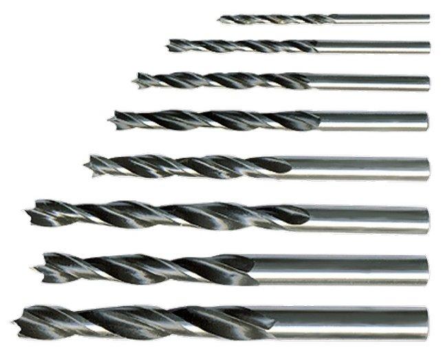 Набор сверл Дерево, 3-4-5-6-7-8-9-10 мм, 8 шт. цилиндрический хвостовик Sparta 702125