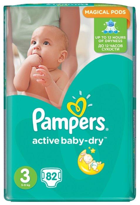 b67e29c41ea0 Купить Pampers подгузники Active Baby-Dry 3 (5-9 кг) 82 шт. в Минске ...